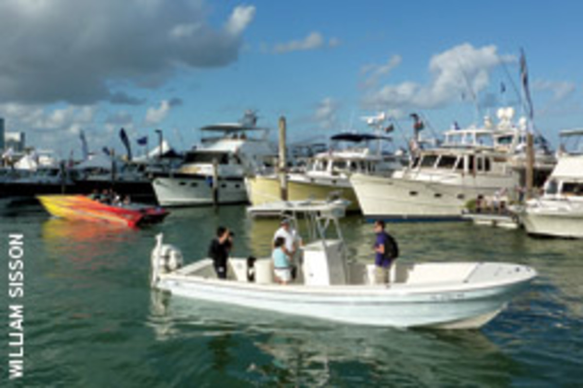 The shows offer the opportunity to sea trial and board boats big and small.