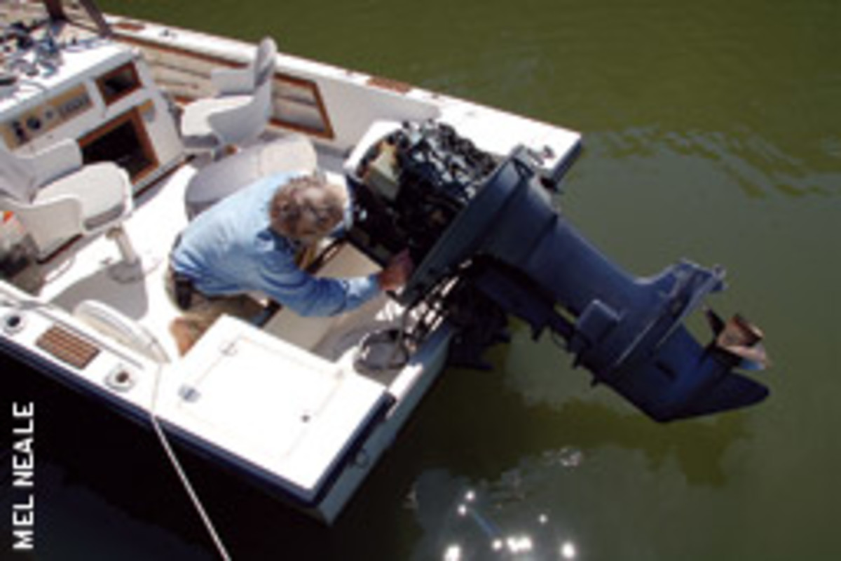 The outboard needs to be inspected for critters and other problems.