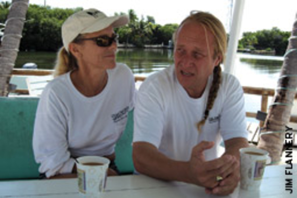 Ayres and his fiancee, Liz Murphy Brown, plan to buy another boat and cruise the Caribbean.
