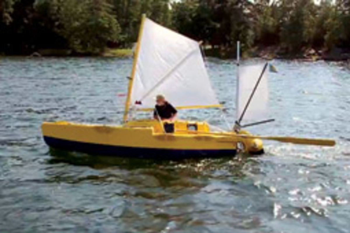 Yrvind sailed from Ireland to the Caribbean on the 15-foot Yrvind.com, which he designed and built.