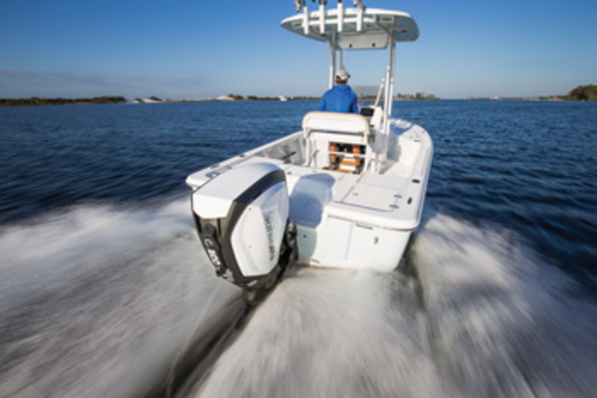 The 200 is one of four new Evinrude outboards with the company's G2 E-TEC technology.