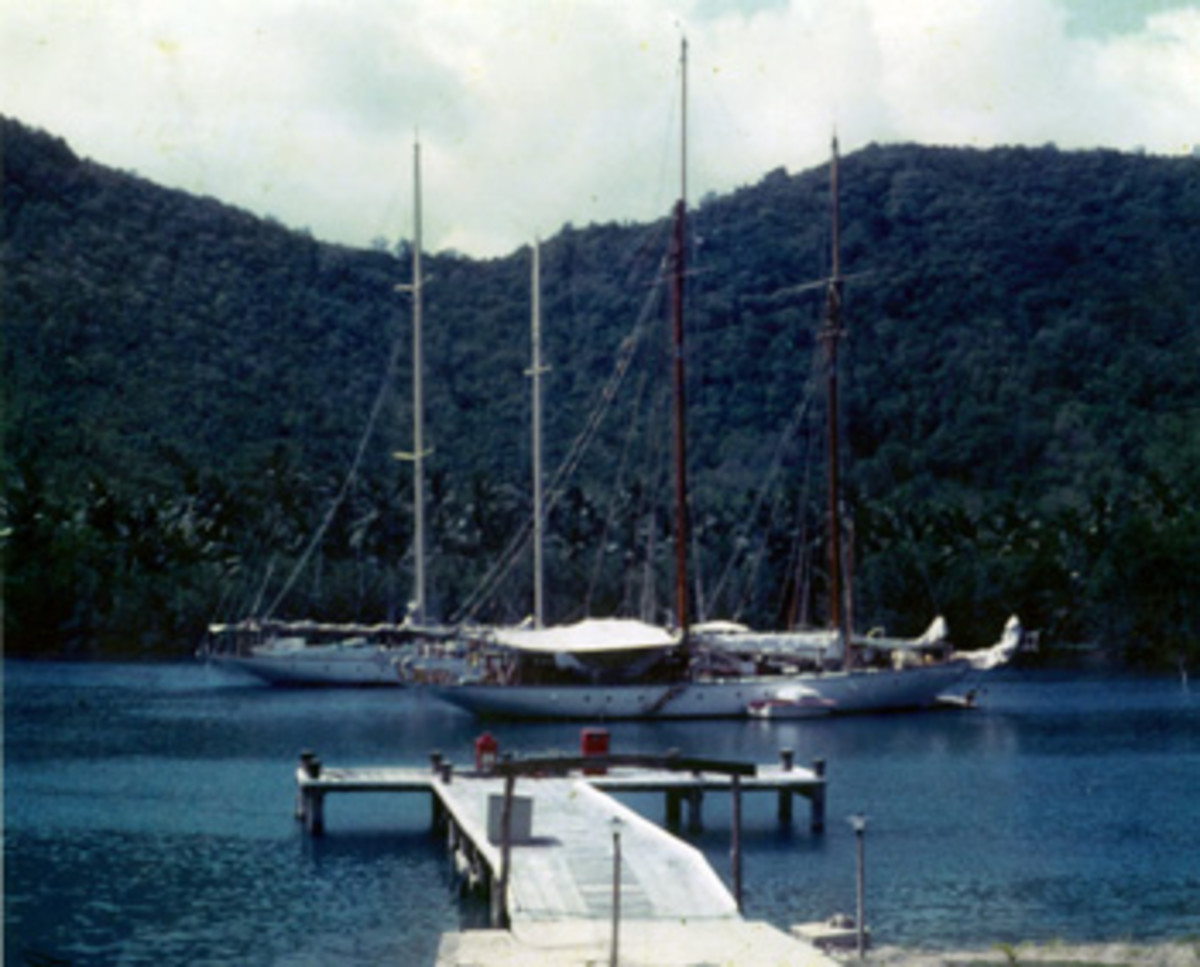 St. Lucia's Marigot Bay was the author's home base for adventure.