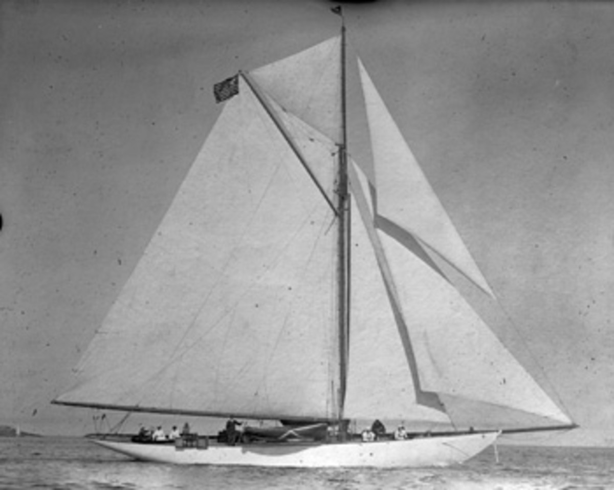 Doris was a magnificent sight under sail in her heyday.