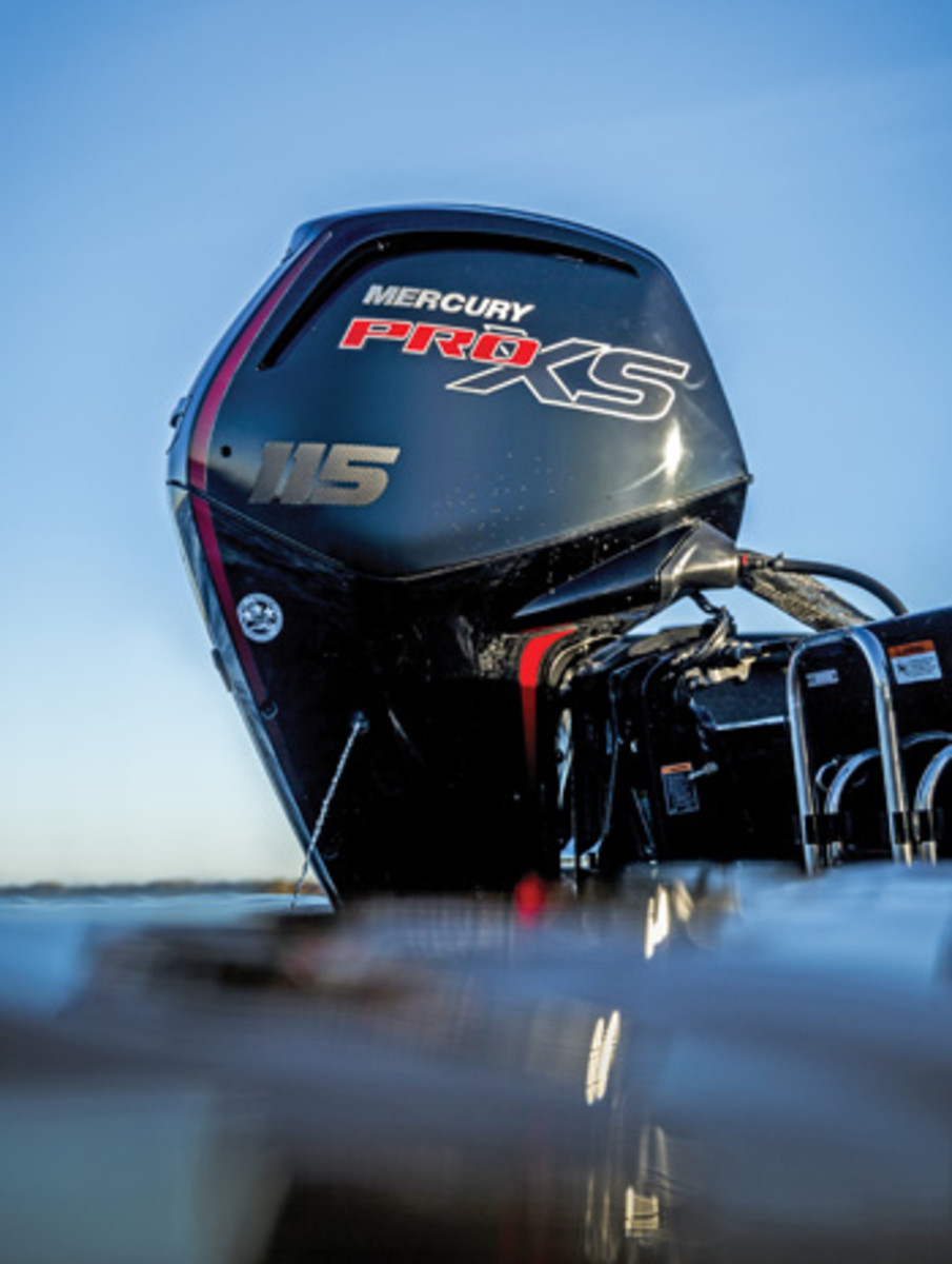 """Brunswick's David Foulkes says the Mercury 115 Pro XS has been an """"overwhelming success."""""""