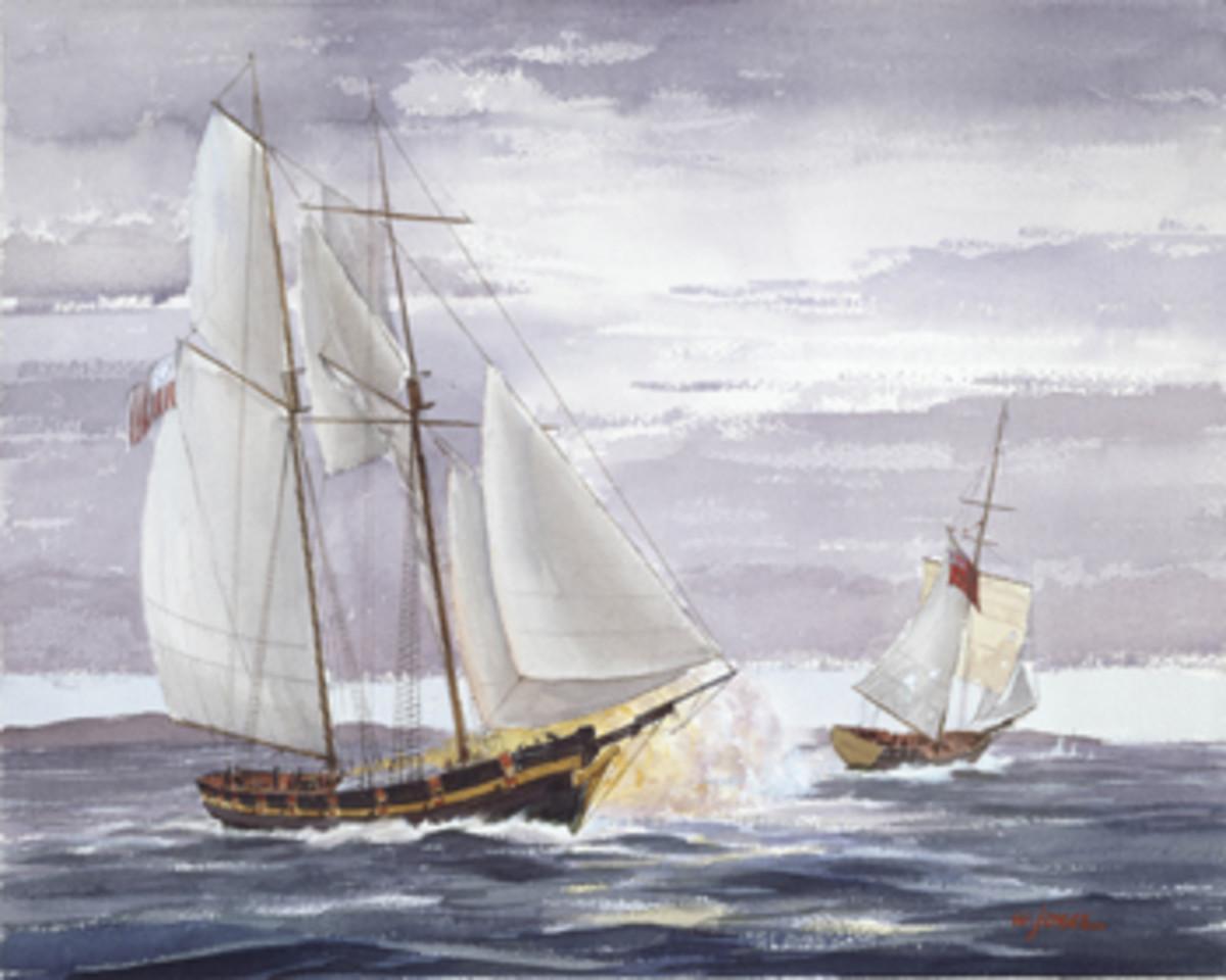 Watercolor by Walter Jones.