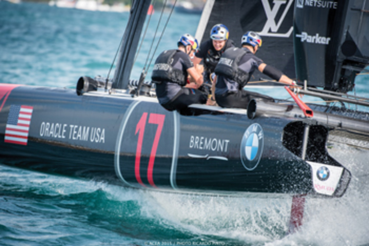 The defending Cup winner, Oracle Team USA, has been training in Bermuda for months.