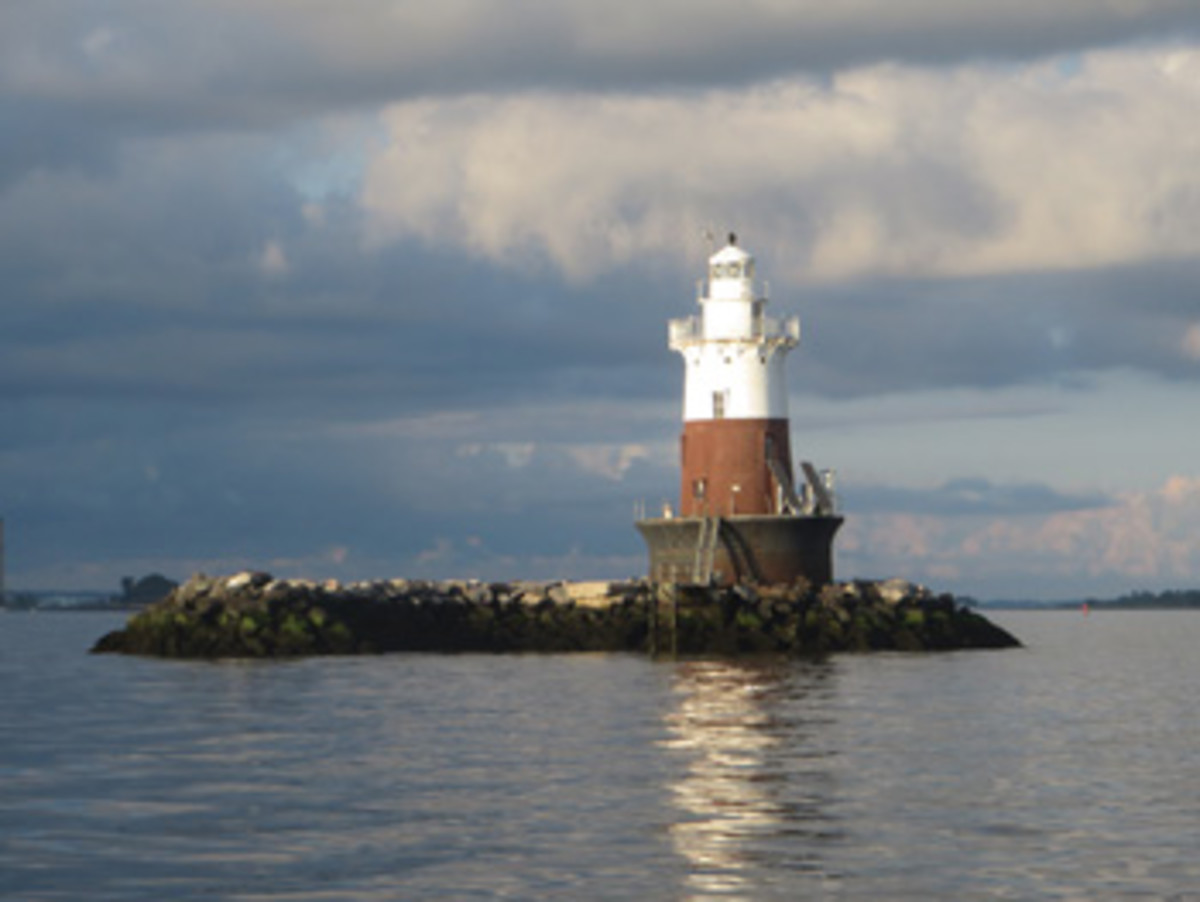 Greens Ledge Light, built in 1902, guards the western end of the Norwalk Islands.