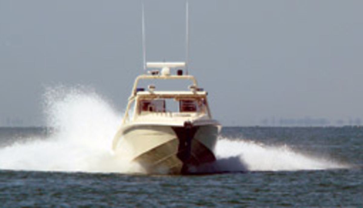 The company's design portfolio includes patrol boats.