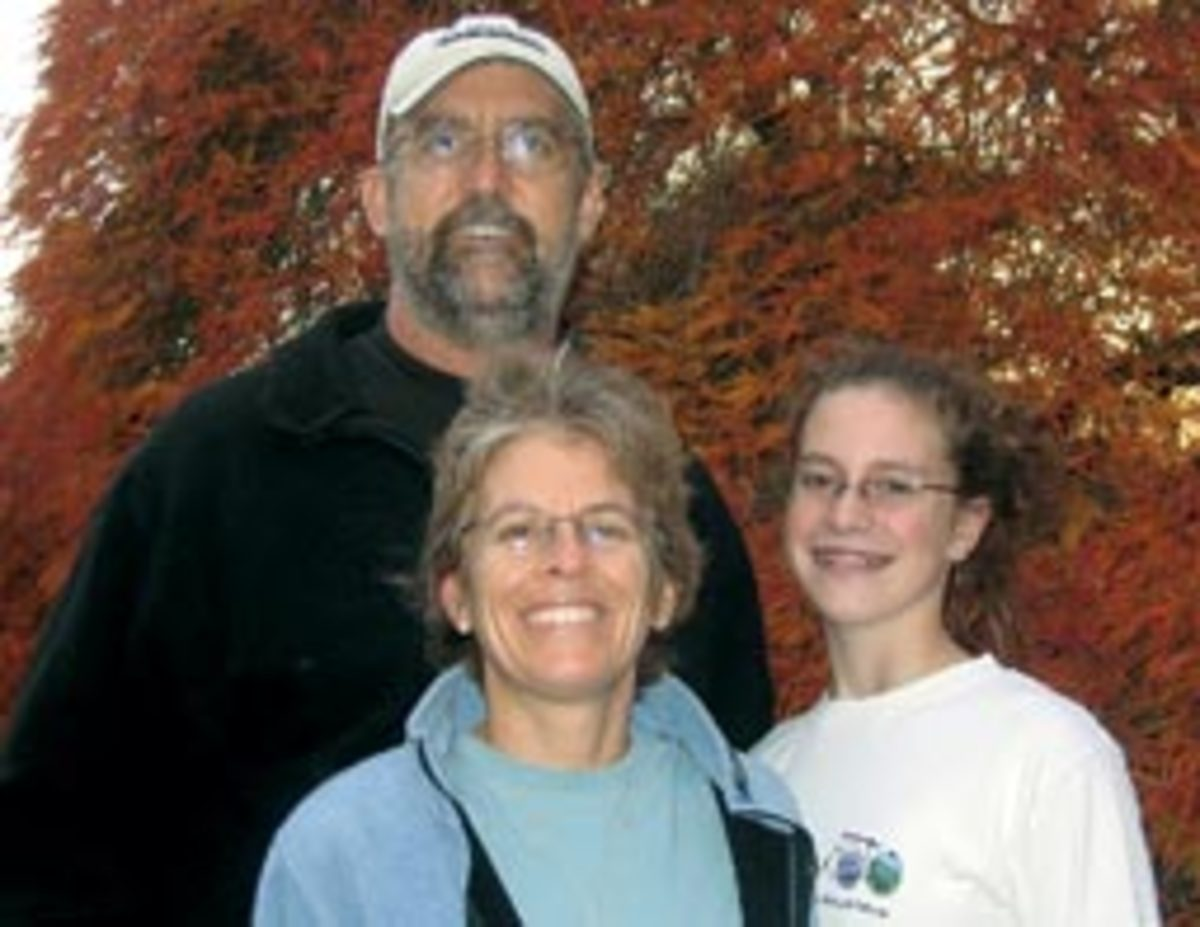 Cortvriend with her daughter, Savannah, and her husband Andy, before his death in 2006.