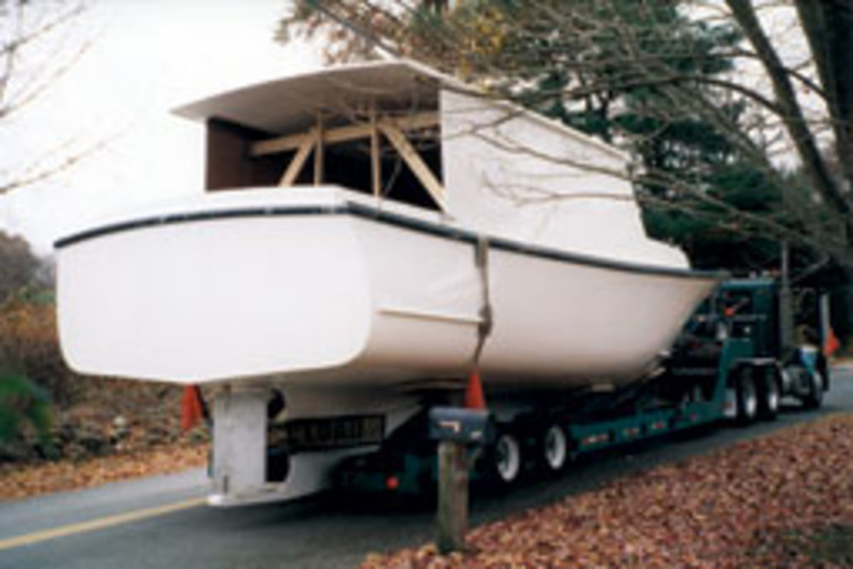 Stubbings trailered the hull, with a molded pilothouse, home to Colchester, Conn., in November 2004 and spent nearly seven years completing the Down Easter.