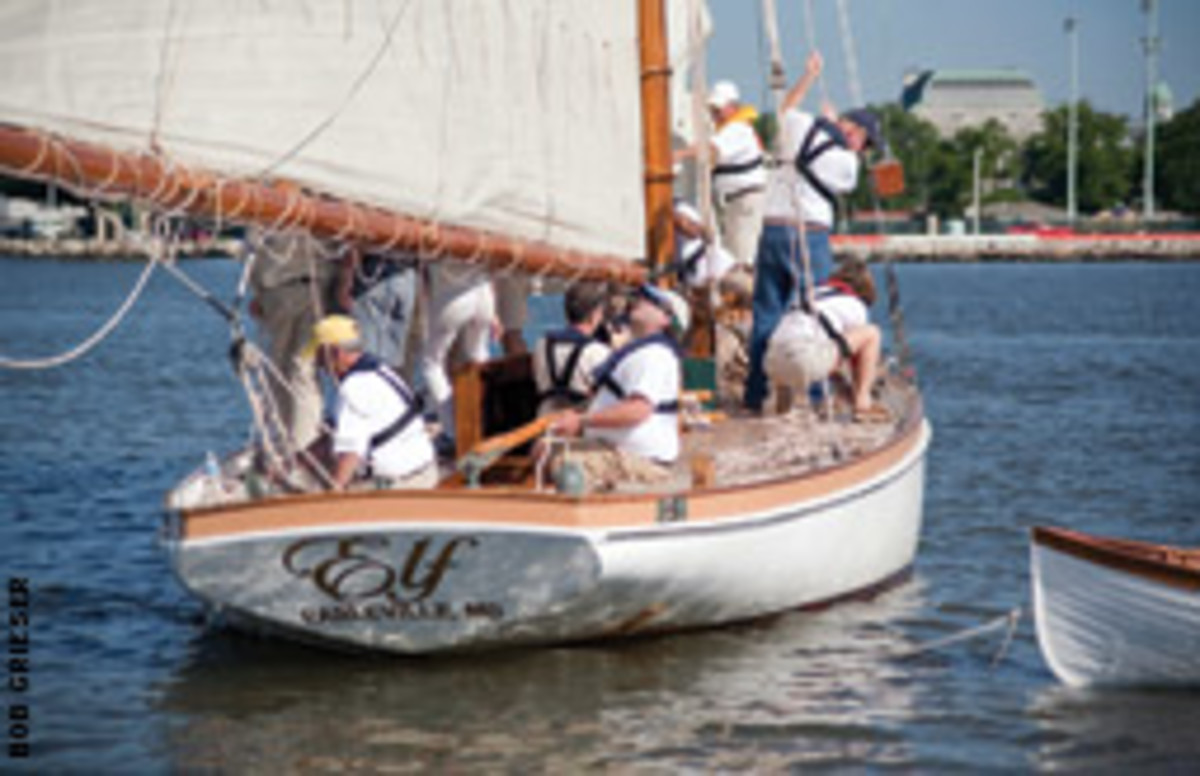 Elf, a 58-foot Lawley, is the namesake of the Elf Classic Yacht Race.
