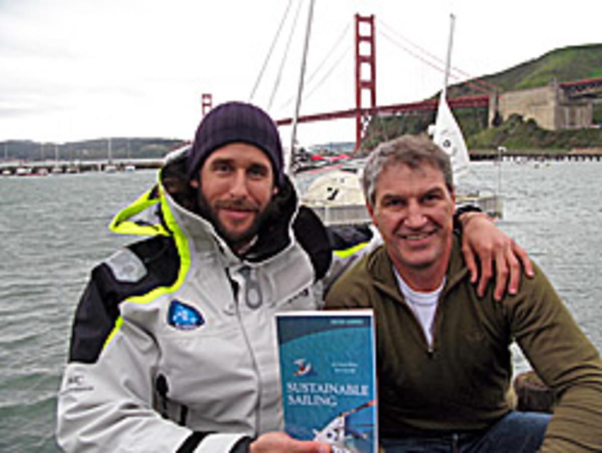 Soundings sail editor Dieter Loibner (right) with David de Rothschild
