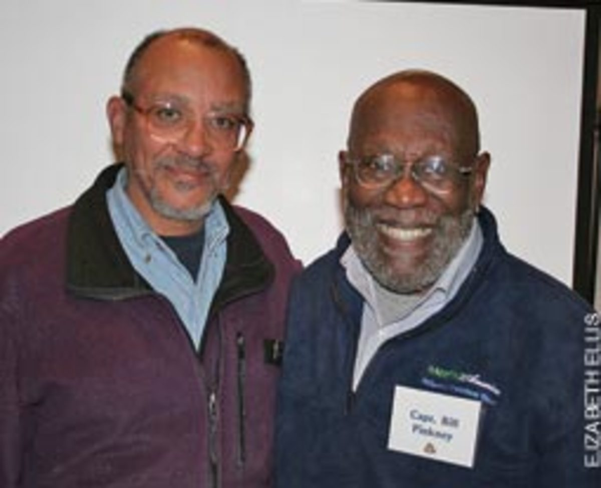 Capt. William Pinkney (right) and R.M. Maxwell say the voyage brought the Amistad project full circle.