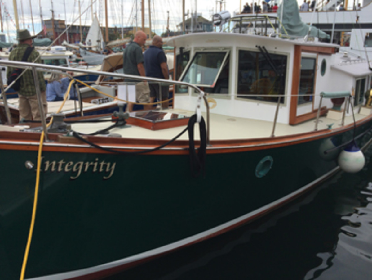 Sam Devlin's Integrity, a 1993 Czarinna 35 twin-diesel fantail cruiser.