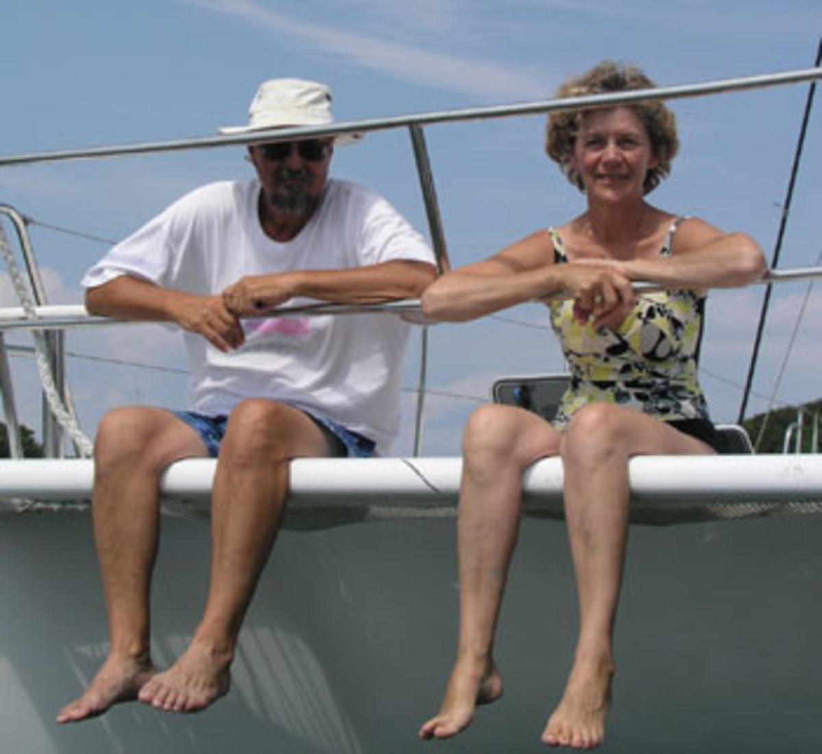 Mike Camarata and Carol Zipke.
