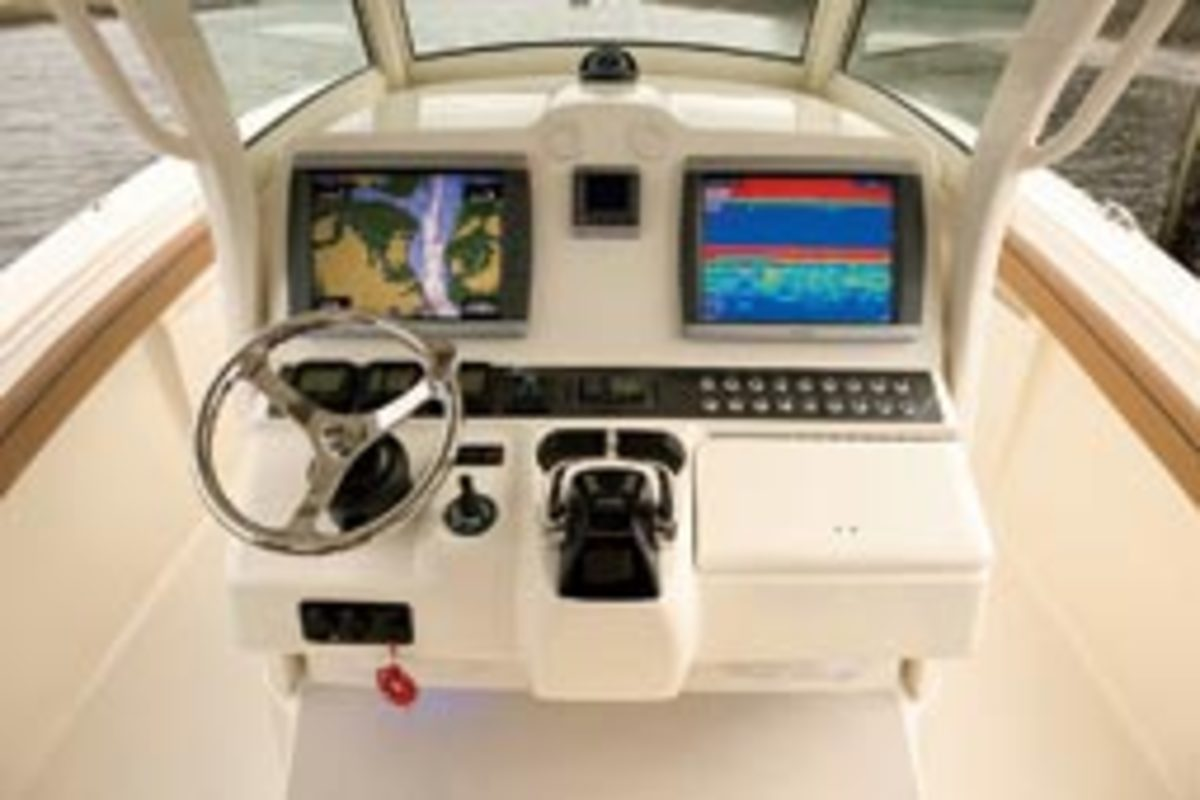 The amount of room on the helm console for mounting electronics is a basic consideration in choosing your system.