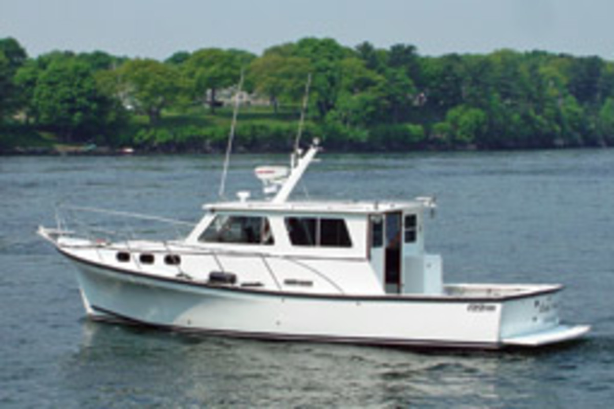 The Eastern 35, with its enclosed pilothouse and heating and air conditioning, allows cruising in just about any weather.