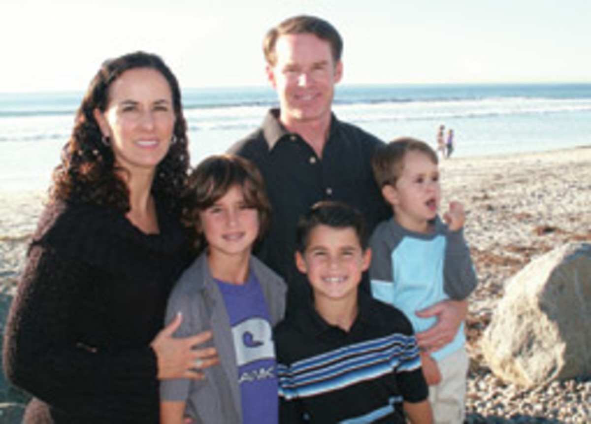 The DeWeese family - Anthony is in the striped shirt - is waiting for its lawsuit against the Coast Guard to come to trial.