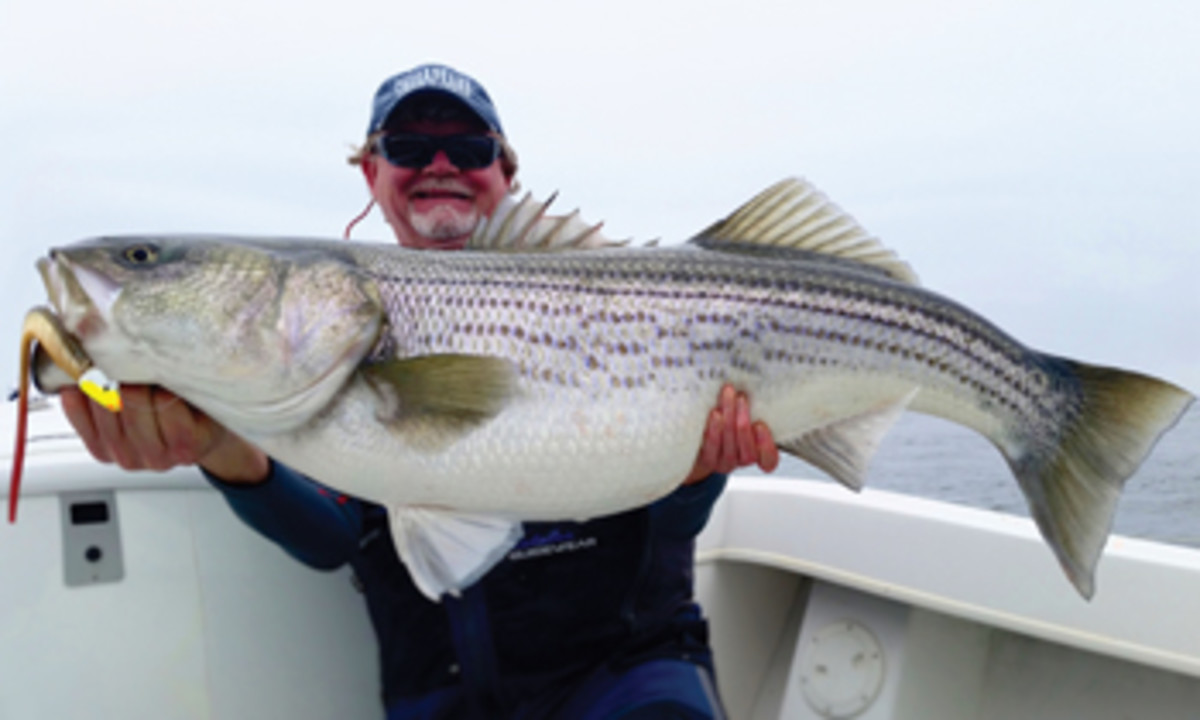 "Shawn Kimbro is a veteran of fishing ""The Rips"" at Calvert Cliffs Nuclear Power Plant."