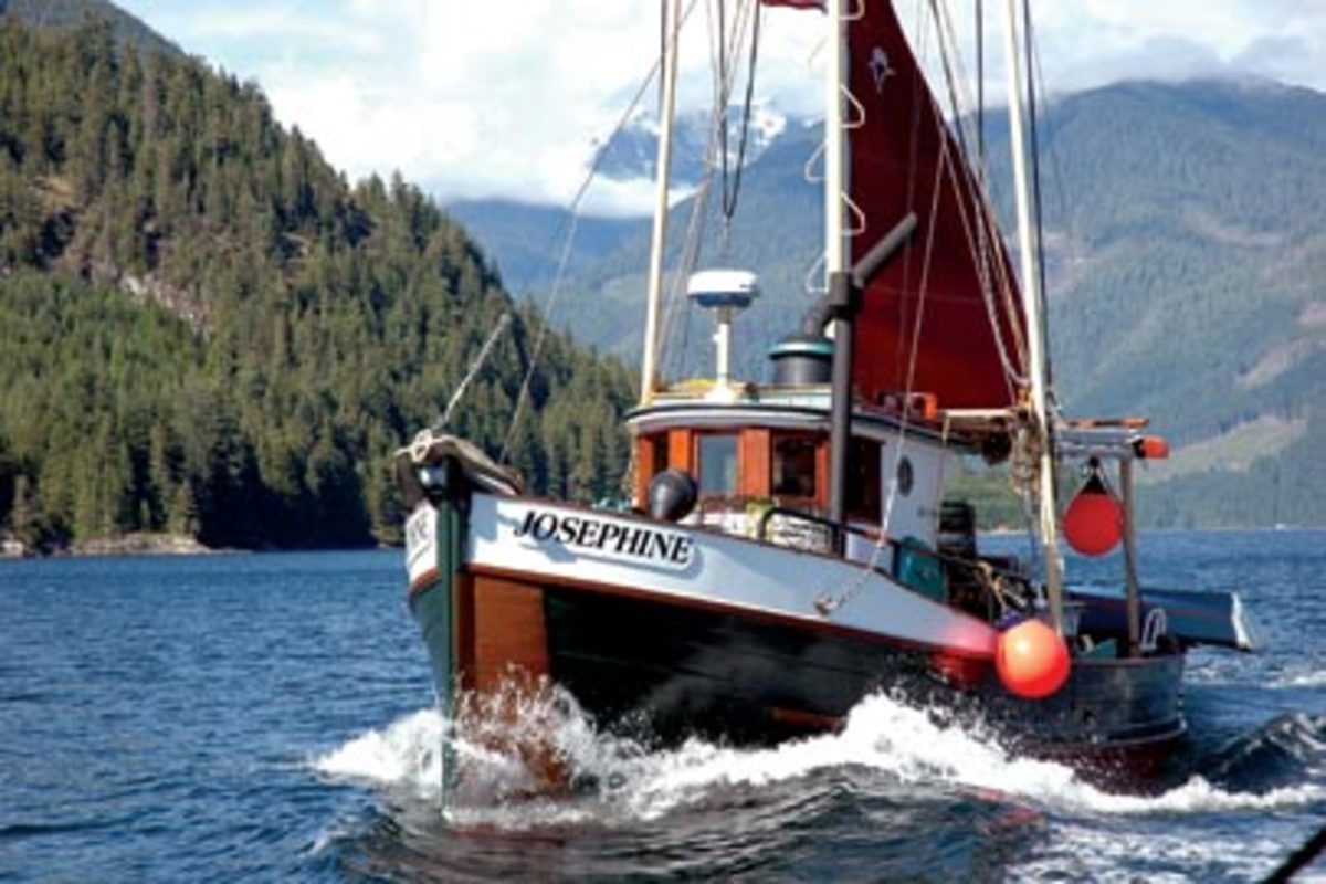 Devlin piloted his restored 1934 fishing boat through Alaska's Inside Passage.