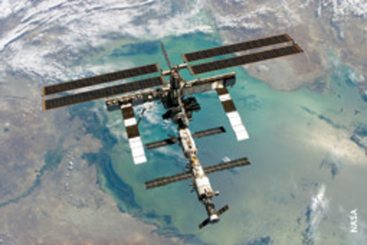 An AIS antenna was installed on the International Space Station late last year to test vessel tracking from space.