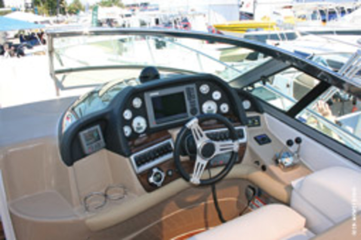 A dash that's a darker, duller color will reduce glare and eye strain at the helm.