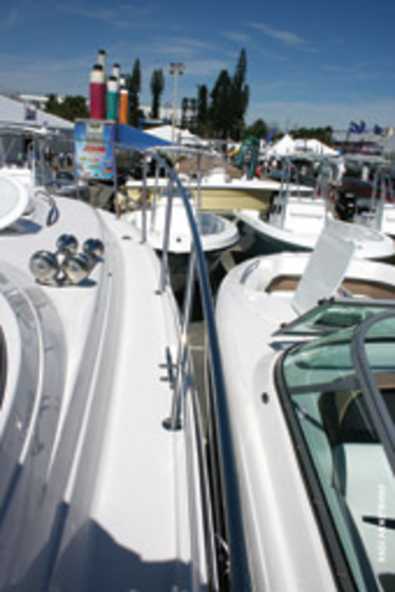Side decks should be wide enough for safe walking, and bow rails should be 28 to 30 inches high.
