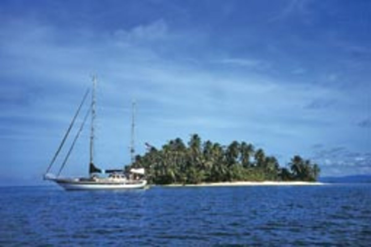 San Blas Island off Panama (here with his former boat Lost Soul) is one of Bitchin's favorite cruising grounds.