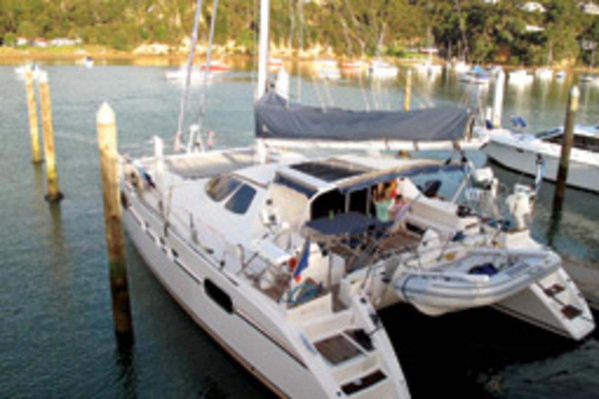 The Contis were cruising aboard a 47-foot catamaran.