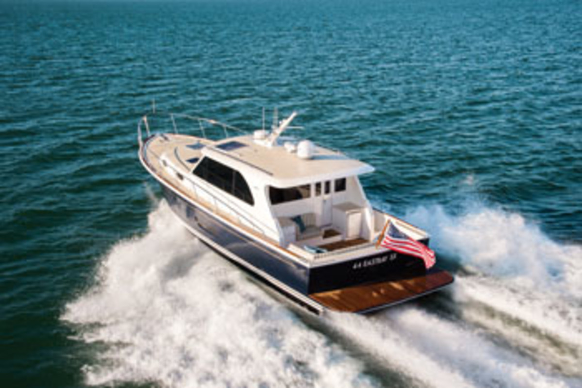 A deep-vee hull and spacious saloon make the 44 Eastbay SX a comfortable cruiser.