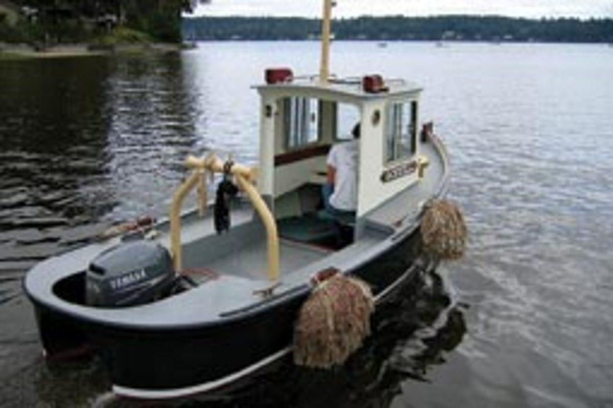 The Godzilli 16 was designed as a small workboat or launch.