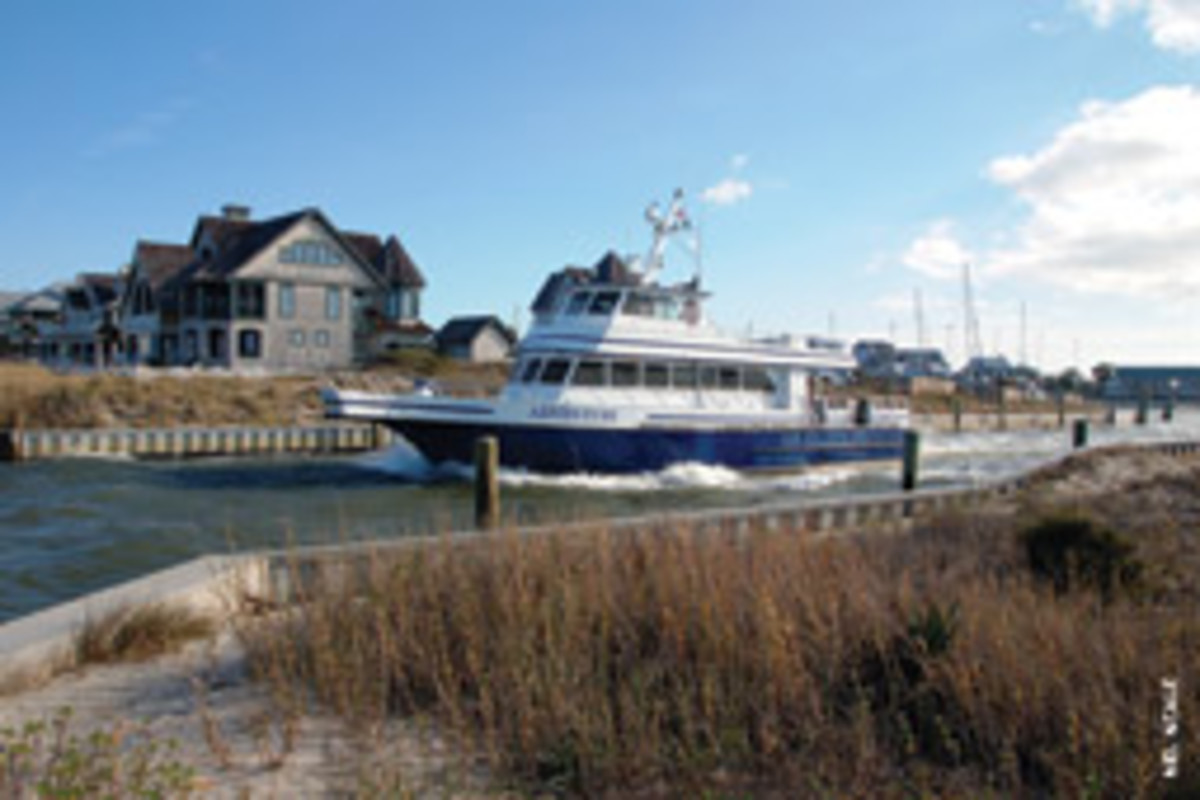 Bald Head Island is only accessible by passenger ferry or private boat.