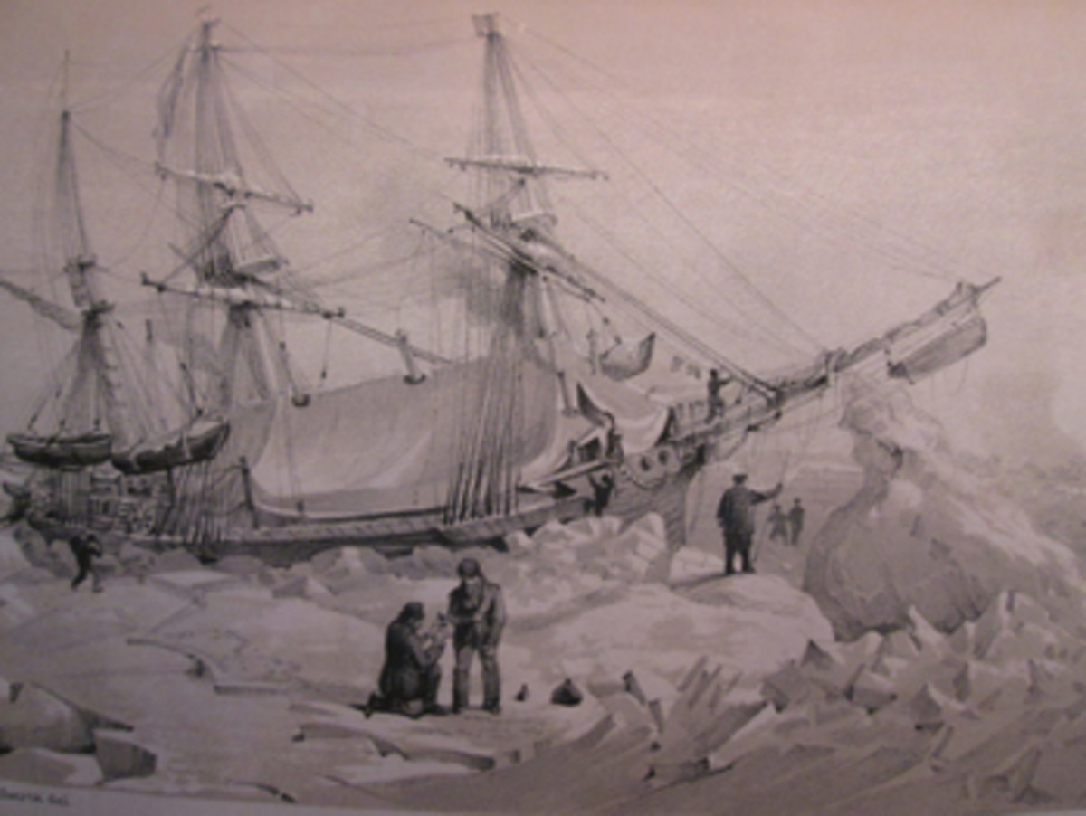 This sketch of the Terror is from the narrative Capt. George Back wrote during his 1836-37 Arctic expedition.