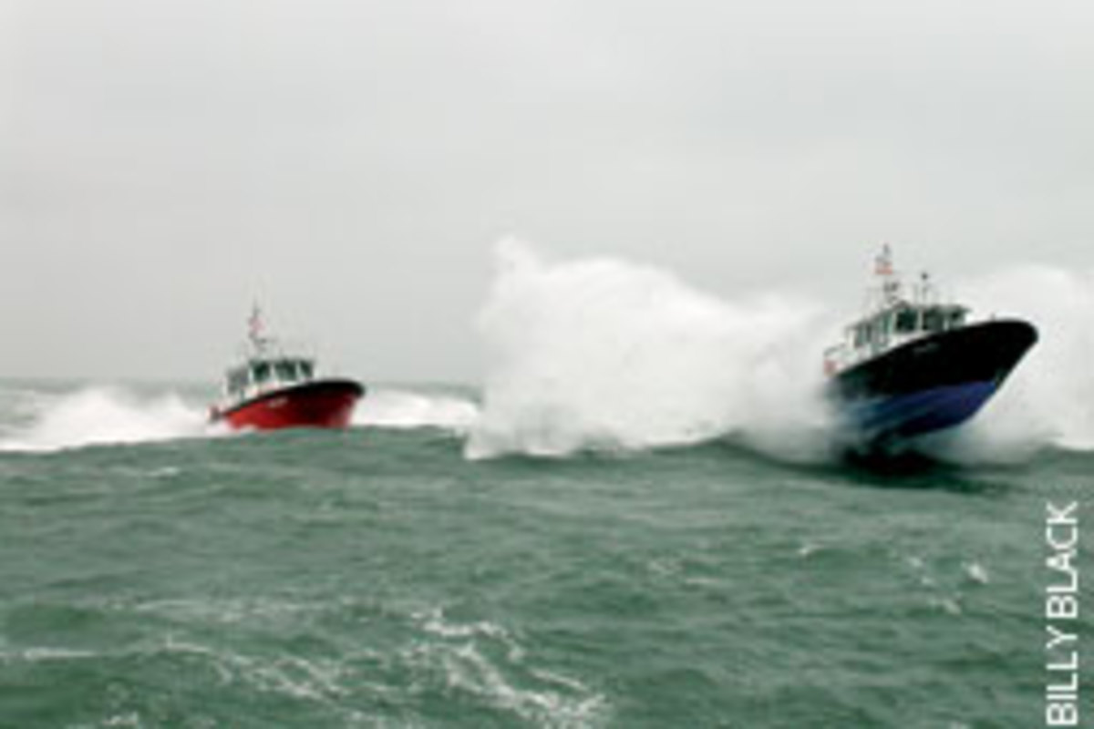 A pair of Hunt boats running hard.