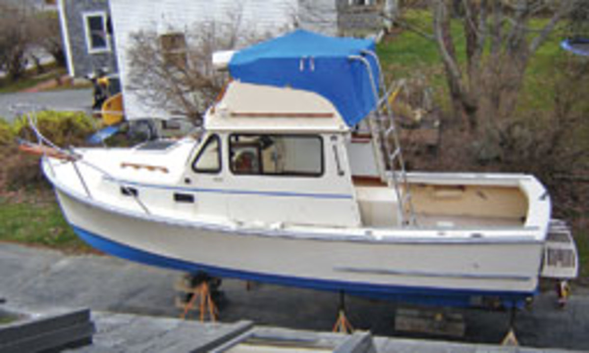 Taylor says he was able to stay within his budget refitting his Sisu 26.