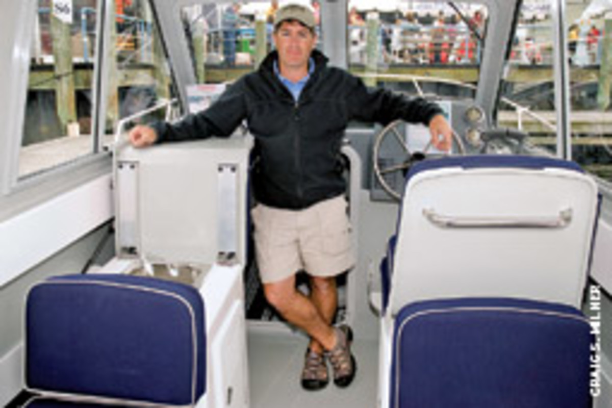 Maritime's new owners have no plans to change the basic hull design. Peter Galvin is the vice president of marketing.