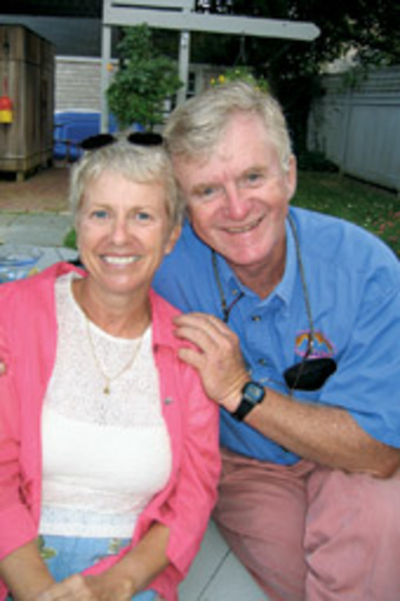 David 'D.J.' Walsh - pictured here with his wife, Melody - died in the crash.