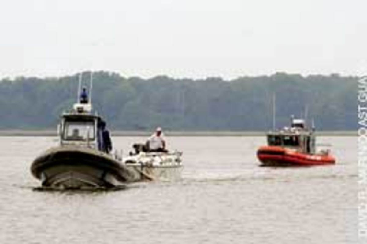 The 22-foot sailboat was towed ashore by the Virginia Marine Police.
