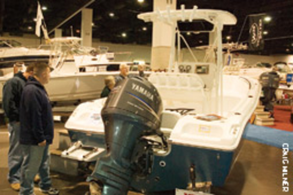 For the first time, the boats and accessories were on one floor of the Rhode Island Convention Center.