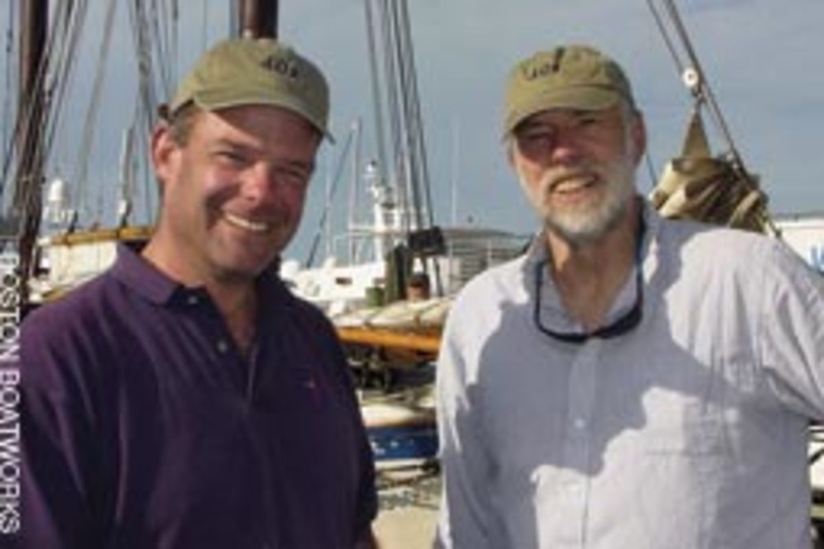 Scott Smith (left) and Mark Lindsay, founders and co-owners of Boston BoatWorks