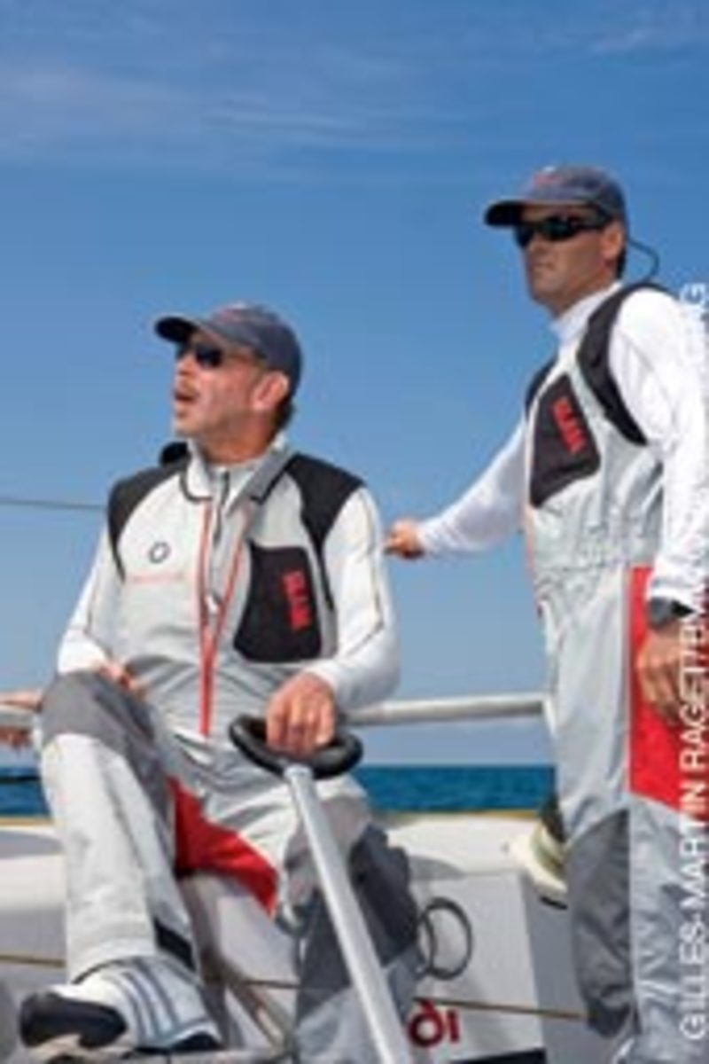 BMW Oracle Racing syndicate head Larry Ellison (left) and CEO Russell Coutts.