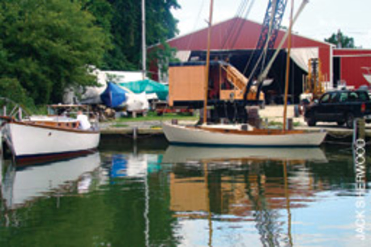 Cutts presided over his time capsule of a boatyard in Oxford, Md.