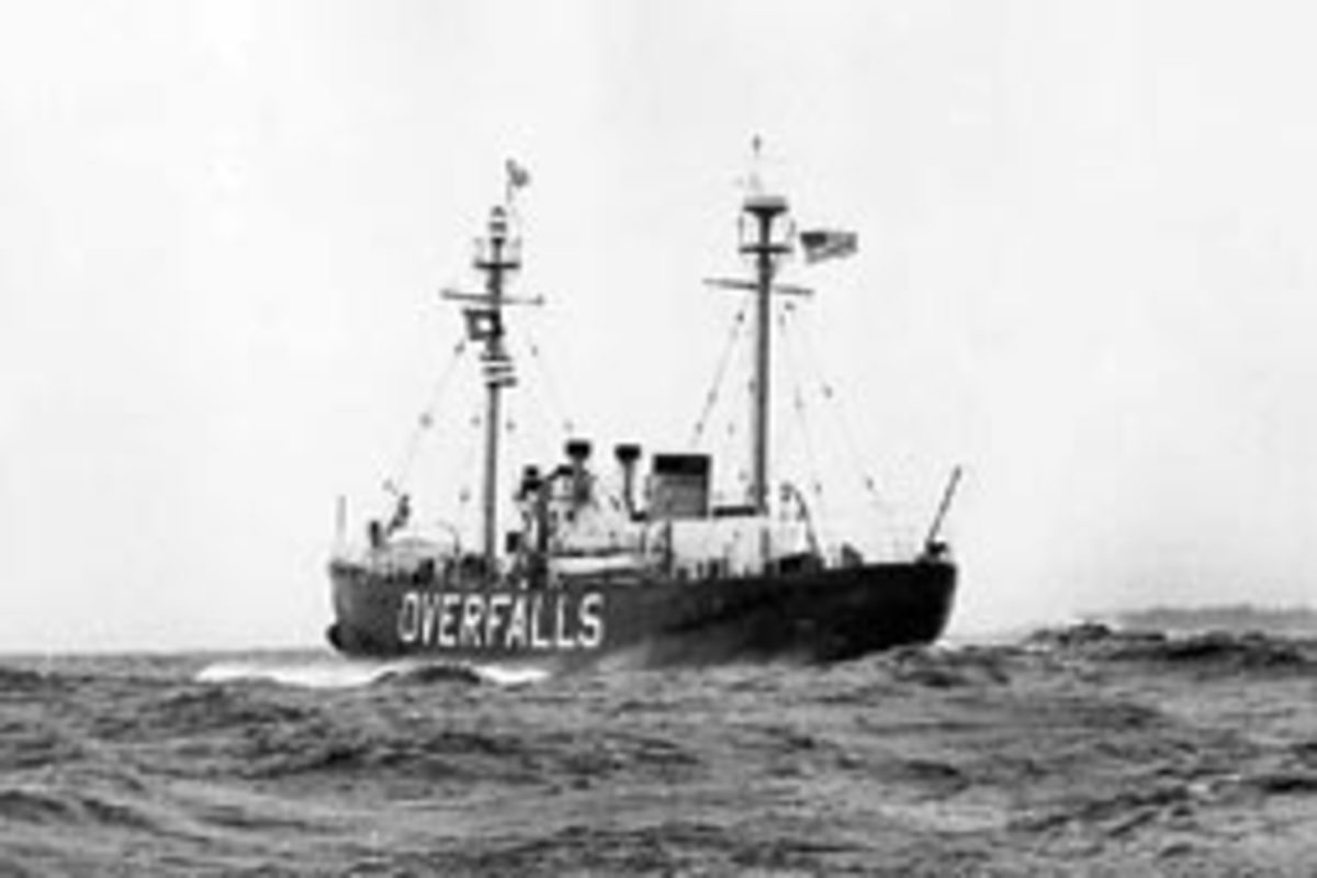 The Lightship Overfalls was the last lightship built by the United States Lightouse Service.