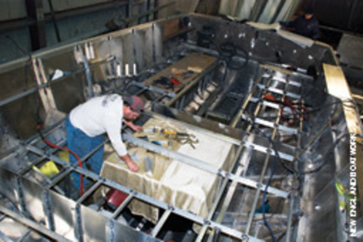 New England Boatworks coordinated with Hunt Yachts, but added numerous customizations.