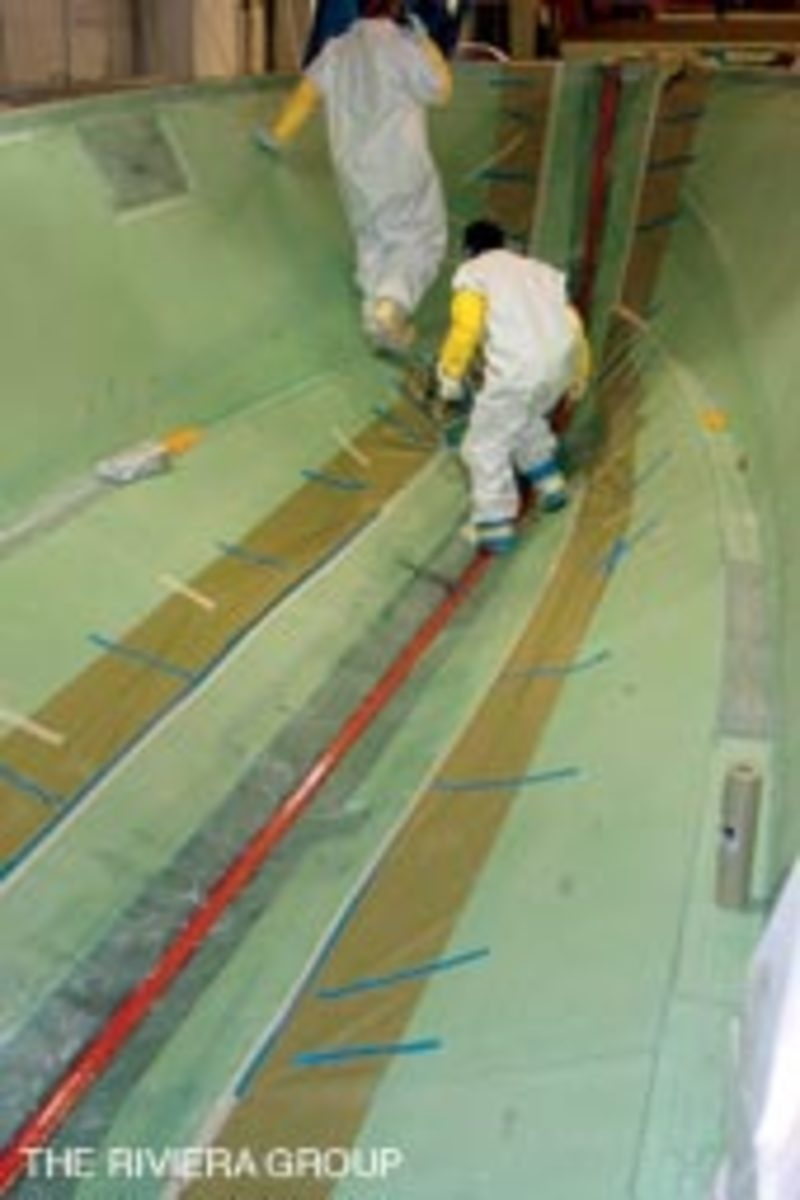 A properly built, cored and infused boat will be lighter, stiffer and stronger than a solid glass hull.