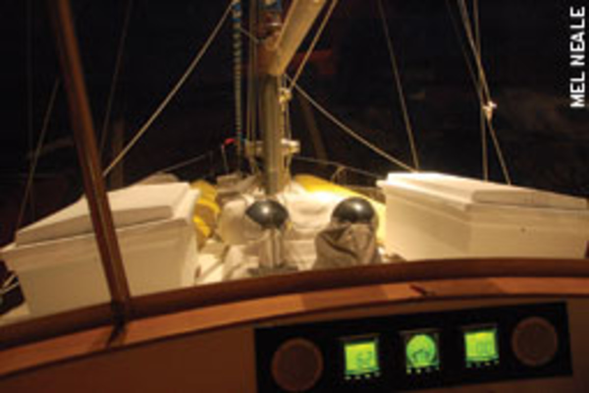 Finding your way into an unfamiliar anchorage in the dark is challenging in any type of boat.