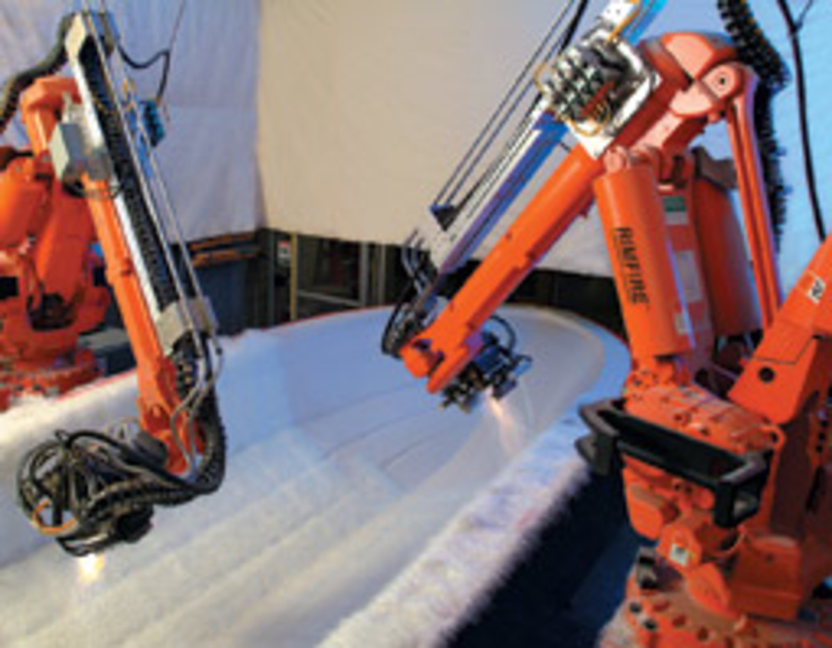 Sea Ray has invested heavily in robotic technology.