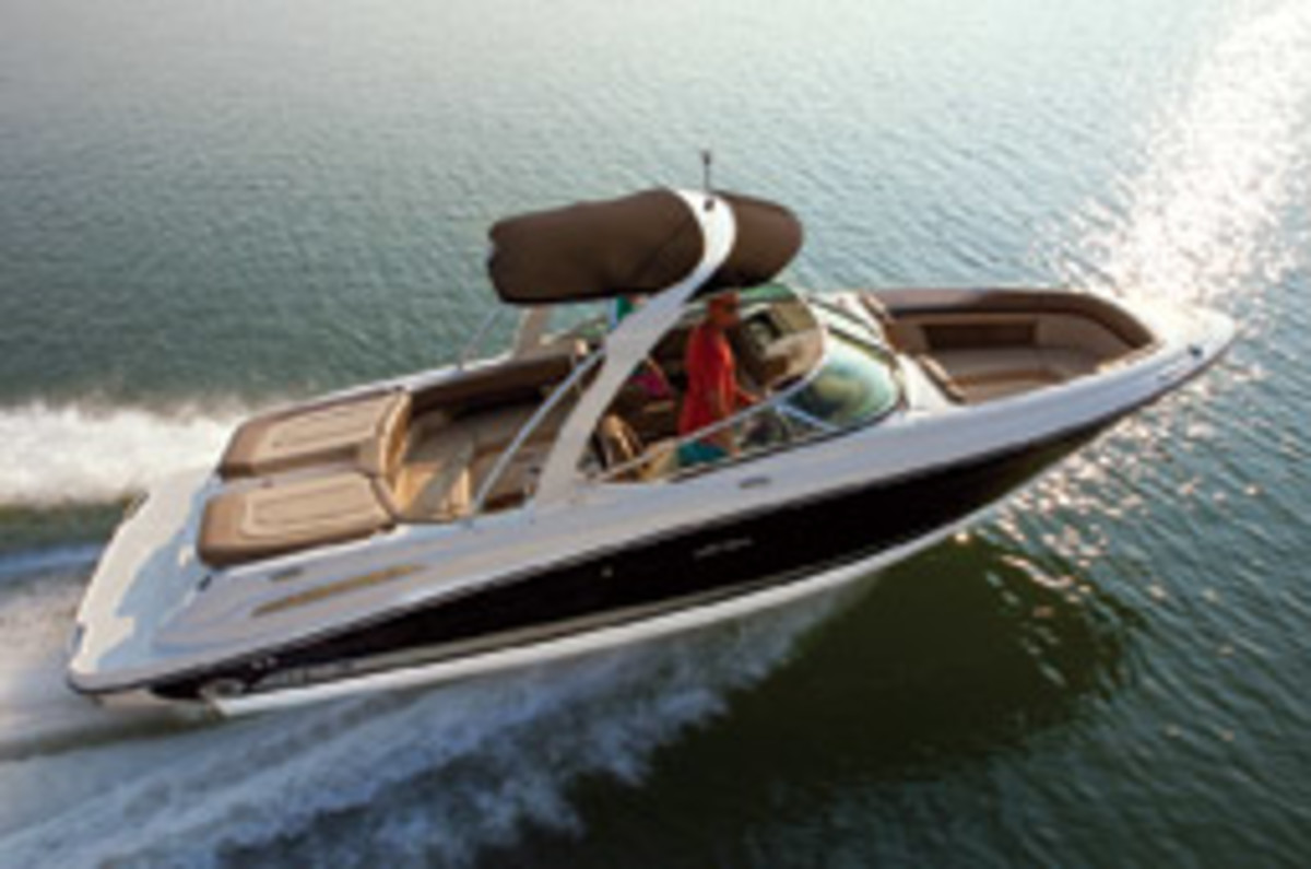 The 250 SLX is Noyes' favorite boat in the current Sea Ray lineup.
