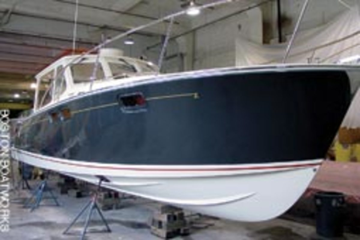 This is the Downeast version of the boat, which also is available in an Express model.