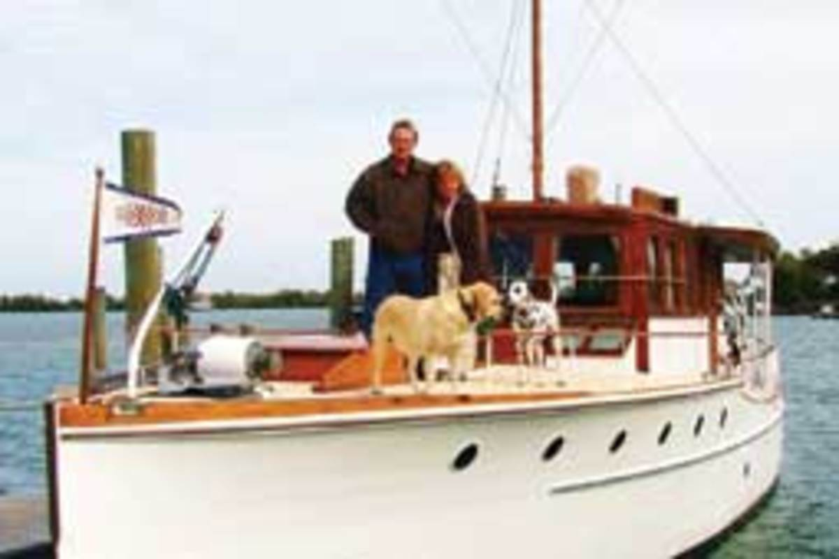 Hermione, a 56-foot Elco motoryacht, was owned by Mike Wright and Jody Reynolds.